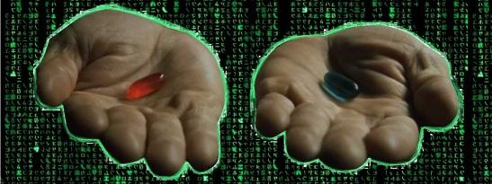 Red Pill Blue Pill -- The Matrix