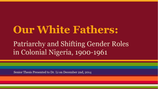 our white fathers title page